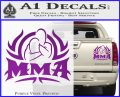UFC MMA Rear Naked Choke Decal Sticker Purple Vinyl 120x97