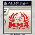 UFC MMA Rear Naked Choke Decal Sticker Red Vinyl 120x120