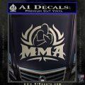 UFC MMA Rear Naked Choke Decal Sticker Silver Vinyl 120x120