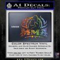 UFC MMA Rear Naked Choke Decal Sticker Sparkle Glitter Vinyl 120x120
