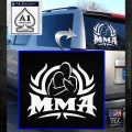 UFC MMA Rear Naked Choke Decal Sticker White Emblem 120x120