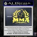 UFC MMA Rear Naked Choke Decal Sticker Yelllow Vinyl 120x120
