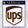 UPS Decal Sticker SH Brown Vinyl 120x120