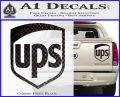 UPS Decal Sticker SH Carbon Fiber Black 120x97