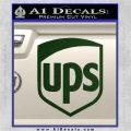 UPS Decal Sticker SH Dark Green Vinyl 120x120