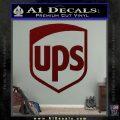 UPS Decal Sticker SH Dark Red Vinyl 120x120