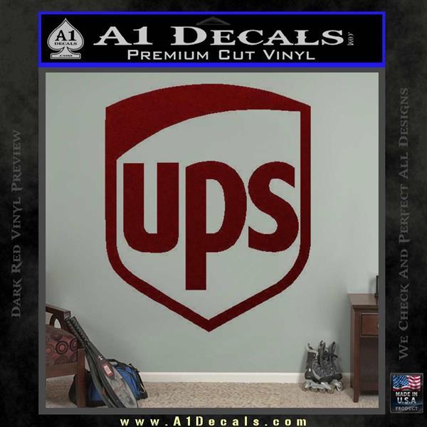 Ups Decal Sticker Sh 187 A1 Decals