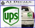 UPS Decal Sticker SH Green Vinyl 120x97