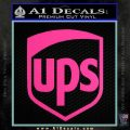 UPS Decal Sticker SH Hot Pink Vinyl 120x120