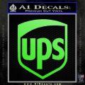UPS Decal Sticker SH Lime Green Vinyl 120x120