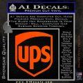 UPS Decal Sticker SH Orange Vinyl Emblem 120x120