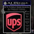UPS Decal Sticker SH Pink Vinyl Emblem 120x120