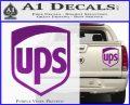 UPS Decal Sticker SH Purple Vinyl 120x97