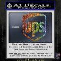 UPS Decal Sticker SH Sparkle Glitter Vinyl 120x120