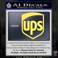 UPS Decal Sticker SH Yelllow Vinyl 120x120