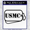 USMC Marine Dog Tags Decal Sticker Black Logo Emblem 120x120