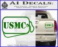 USMC Marine Dog Tags Decal Sticker Green Vinyl 120x97