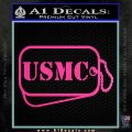USMC Marine Dog Tags Decal Sticker Hot Pink Vinyl 120x120