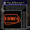 USMC Marine Dog Tags Decal Sticker Orange Vinyl Emblem 120x120