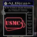 USMC Marine Dog Tags Decal Sticker Pink Vinyl Emblem 120x120