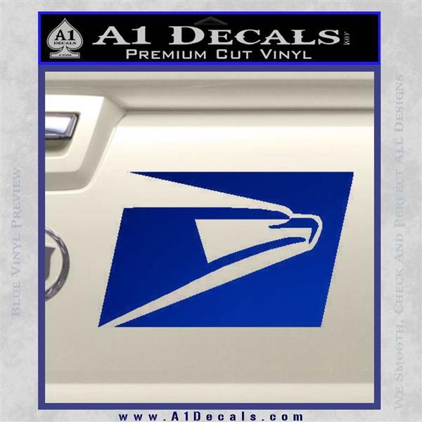 USPS United States Postal Service Decal Sticker Blue Vinyl