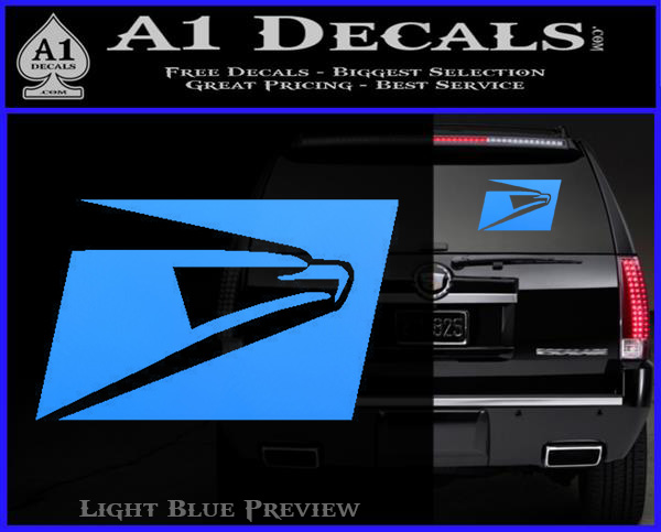 Usps United States Postal Service Decal Sticker Light Blue Vinyl 120x97
