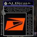 USPS United States Postal Service Decal Sticker Orange Vinyl Emblem 120x120