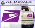 USPS United States Postal Service Decal Sticker Purple Vinyl 120x97