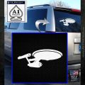 USS Enterprise D9 Decal Sticker White Emblem 120x120