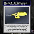 USS Enterprise D9 Decal Sticker Yelllow Vinyl 120x120