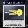 USS Enterprise T1 Decal Sticker Yelllow Vinyl 120x120