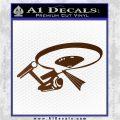 USS Enterprise Tractor Beam Decal Sticker Brown Vinyl 120x120