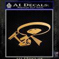 USS Enterprise Tractor Beam Decal Sticker Metallic Gold Vinyl Vinyl 120x120