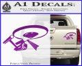 USS Enterprise Tractor Beam Decal Sticker Purple Vinyl 120x97