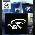 USS Enterprise Tractor Beam Decal Sticker White Emblem 120x120