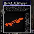 USS Enterprise Warp Burst Decal Sticker Orange Vinyl Emblem 120x120