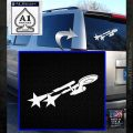 USS Enterprise Warp Burst Decal Sticker White Emblem 120x120