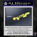 USS Enterprise Warp Burst Decal Sticker Yelllow Vinyl 120x120