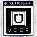 Uber Decal Sticker Black Logo Emblem 120x120