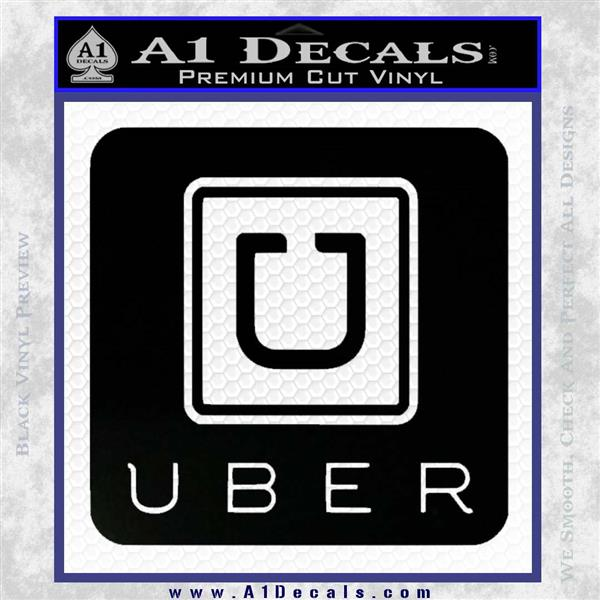 What Is Uber Black Car >> Uber Decal Sticker SQ » A1 Decals