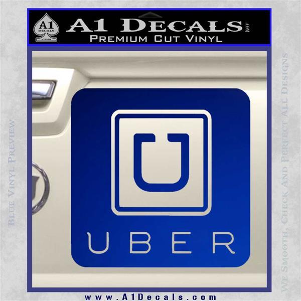 Uber Decal Sticker Blue Vinyl 120x120