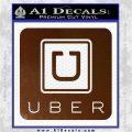 Uber Decal Sticker Brown Vinyl 120x120