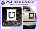 Uber Decal Sticker Carbon Fiber Black 120x97