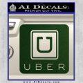 Uber Decal Sticker Dark Green Vinyl 120x120