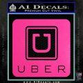 Uber Decal Sticker Hot Pink Vinyl 120x120