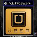 Uber Decal Sticker Metallic Gold Vinyl Vinyl 120x120