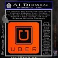Uber Decal Sticker Orange Vinyl Emblem 120x120