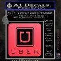 Uber Decal Sticker Pink Vinyl Emblem 120x120