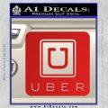 Uber Decal Sticker Red Vinyl 120x120
