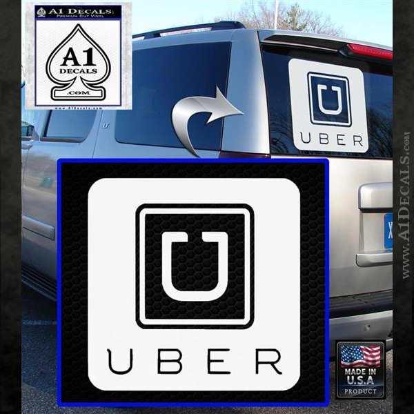 Uber Decal Sticker White Emblem